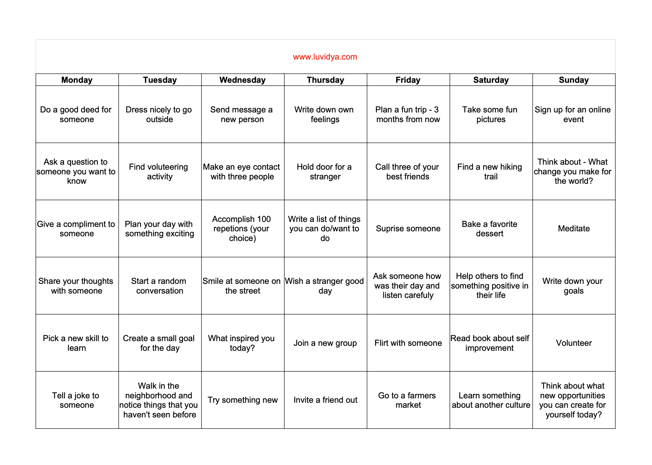 30 day dating challenge